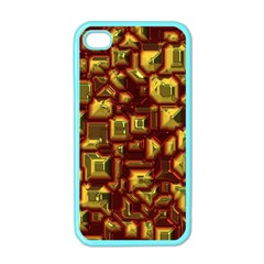 Metalart 23 Red Yellow Apple iPhone 4 Case (Color)