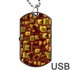 Metalart 23 Red Yellow Dog Tag Usb Flash (two Sides)