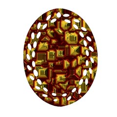 Metalart 23 Red Yellow Ornament (Oval Filigree)