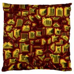 Metalart 23 Red Yellow Large Cushion Cases (Two Sides)