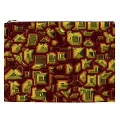 Metalart 23 Red Yellow Cosmetic Bag (XXL)