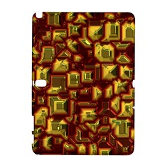 Metalart 23 Red Yellow Samsung Galaxy Note 10.1 (P600) Hardshell Case