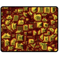 Metalart 23 Red Yellow Double Sided Fleece Blanket (Medium)