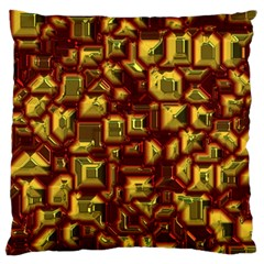 Metalart 23 Red Yellow Large Flano Cushion Cases (Two Sides)