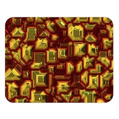 Metalart 23 Red Yellow Double Sided Flano Blanket (Large)