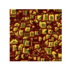 Metalart 23 Red Yellow Small Satin Scarf (square)