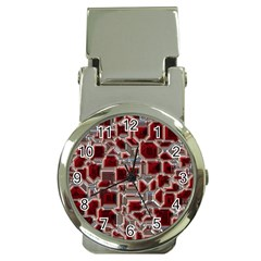 Metalart 23 Red Silver Money Clip Watches