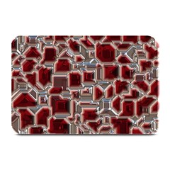 Metalart 23 Red Silver Plate Mats