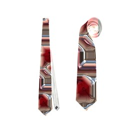 Metalart 23 Red Silver Neckties (one Side)