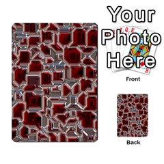 Metalart 23 Red Silver Multi-purpose Cards (Rectangle)