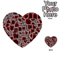 Metalart 23 Red Silver Multi Purpose Cards (heart)