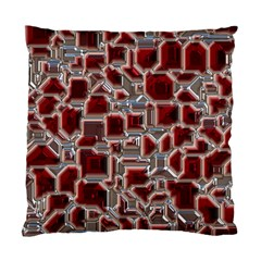 Metalart 23 Red Silver Standard Cushion Case (One Side)