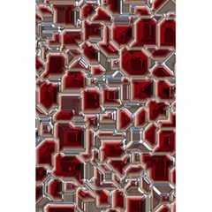 Metalart 23 Red Silver 5.5  x 8.5  Notebooks