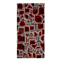 Metalart 23 Red Silver Shower Curtain 36  x 72  (Stall)