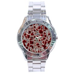 Metalart 23 Red Silver Stainless Steel Men s Watch