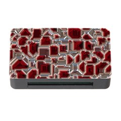 Metalart 23 Red Silver Memory Card Reader with CF