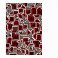 Metalart 23 Red Silver Small Garden Flag (two Sides)