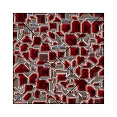 Metalart 23 Red Silver Acrylic Tangram Puzzle (6  x 6 )