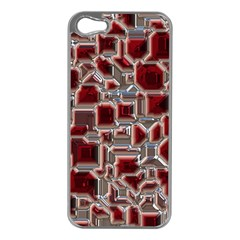 Metalart 23 Red Silver Apple iPhone 5 Case (Silver)