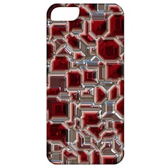 Metalart 23 Red Silver Apple iPhone 5 Classic Hardshell Case