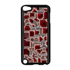 Metalart 23 Red Silver Apple iPod Touch 5 Case (Black)
