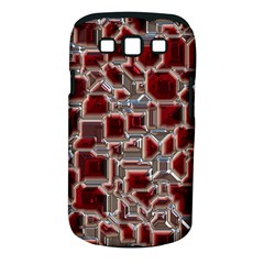 Metalart 23 Red Silver Samsung Galaxy S III Classic Hardshell Case (PC+Silicone)