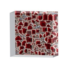 Metalart 23 Red Silver 4 x 4  Acrylic Photo Blocks