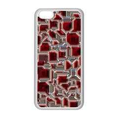 Metalart 23 Red Silver Apple iPhone 5C Seamless Case (White)