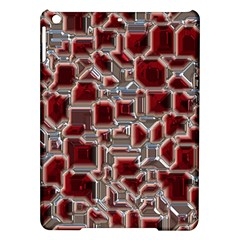 Metalart 23 Red Silver iPad Air Hardshell Cases