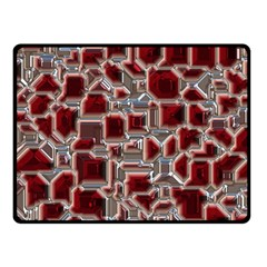 Metalart 23 Red Silver Double Sided Fleece Blanket (small)