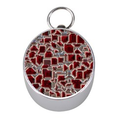 Metalart 23 Red Silver Mini Silver Compasses