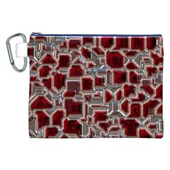 Metalart 23 Red Silver Canvas Cosmetic Bag (XXL)