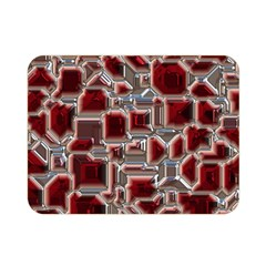 Metalart 23 Red Silver Double Sided Flano Blanket (Mini)