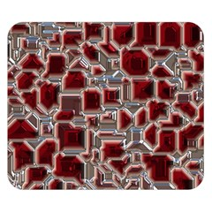 Metalart 23 Red Silver Double Sided Flano Blanket (Small)