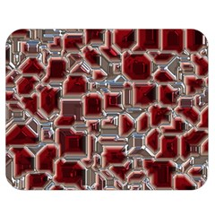Metalart 23 Red Silver Double Sided Flano Blanket (Medium)