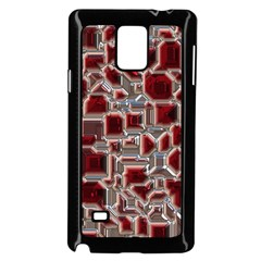 Metalart 23 Red Silver Samsung Galaxy Note 4 Case (black)