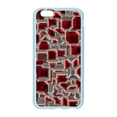 Metalart 23 Red Silver Apple Seamless iPhone 6 Case (Color)