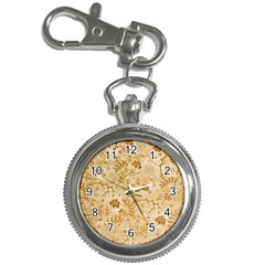 Flower Pattern In Soft  Colors Key Chain Watches