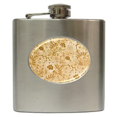 Flower Pattern In Soft  Colors Hip Flask (6 oz)