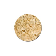 Flower Pattern In Soft  Colors Golf Ball Marker