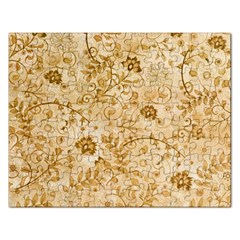 Flower Pattern In Soft  Colors Rectangular Jigsaw Puzzl