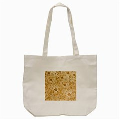 Flower Pattern In Soft  Colors Tote Bag (Cream)