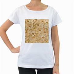 Flower Pattern In Soft  Colors Women s Loose Fit T Shirt (white)
