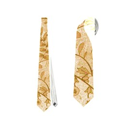 Flower Pattern In Soft  Colors Neckties (one Side)