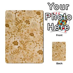 Flower Pattern In Soft  Colors Multi-purpose Cards (Rectangle)