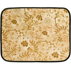 Flower Pattern In Soft  Colors Fleece Blanket (Mini)