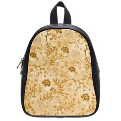 Flower Pattern In Soft  Colors School Bags (Small)
