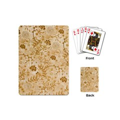 Flower Pattern In Soft  Colors Playing Cards (Mini)