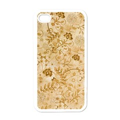 Flower Pattern In Soft  Colors Apple iPhone 4 Case (White)