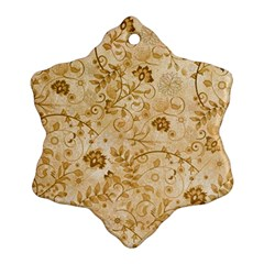Flower Pattern In Soft  Colors Snowflake Ornament (2 Side)